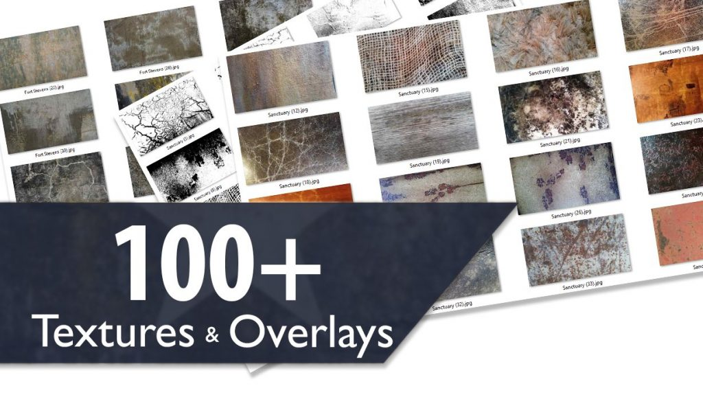 100+ Textures and Overlays