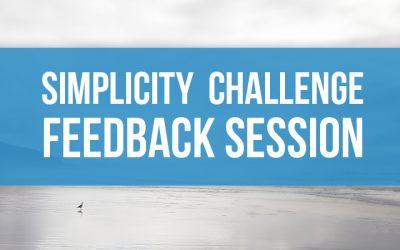 Simplicity Challenge Feedback