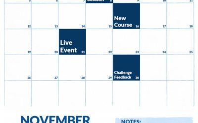 November 2017 Calendar of Events on Elite