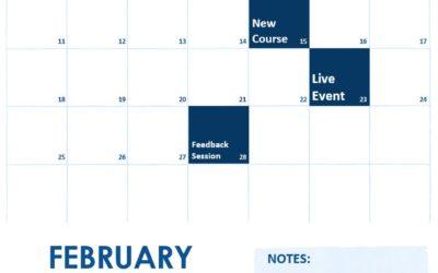 February 2018 Calendar of Events