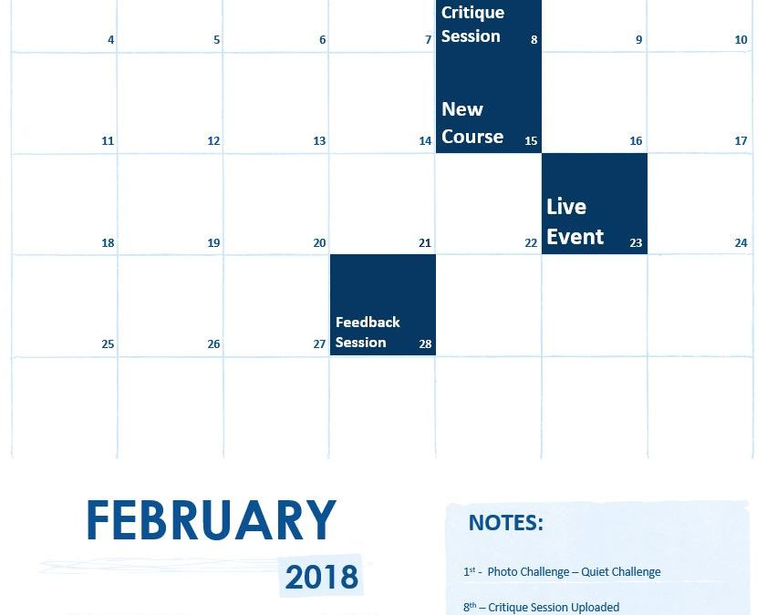 February 2018 Calendar of Events