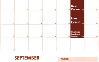 September Schedule of Events on f.64 Elite
