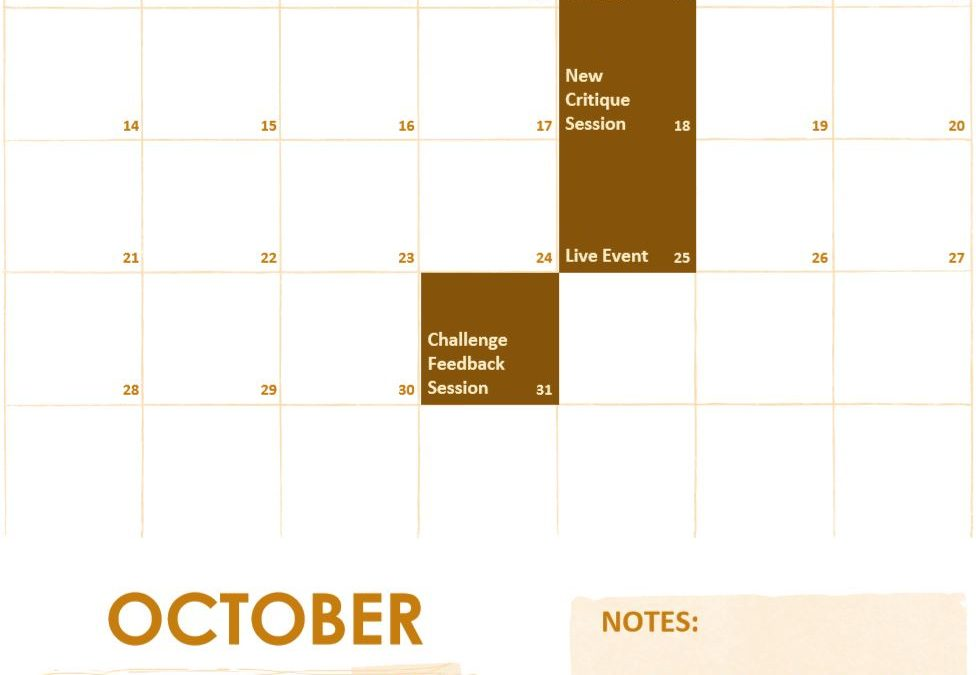 October Schedule of Events on f.64 Elite
